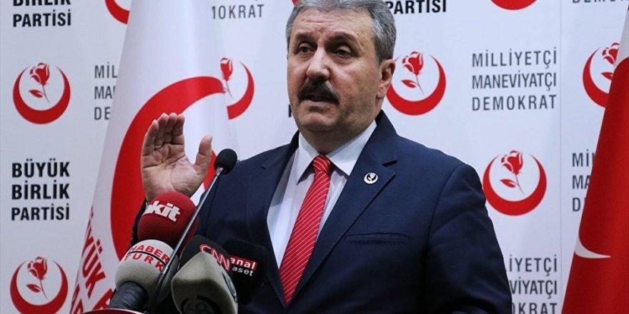 BBP lideri Mustafa Destici'den HDP için kritik çağrı!