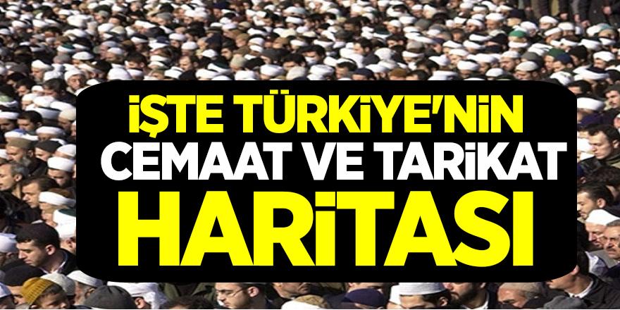 Türkiye'nin cemaat ve tarikat haritasının Tam listesi