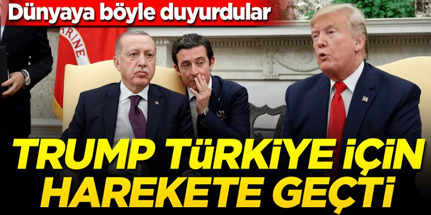 ABD basını Dünyaya duyurdu: Trump Türkiye için harekete geçti