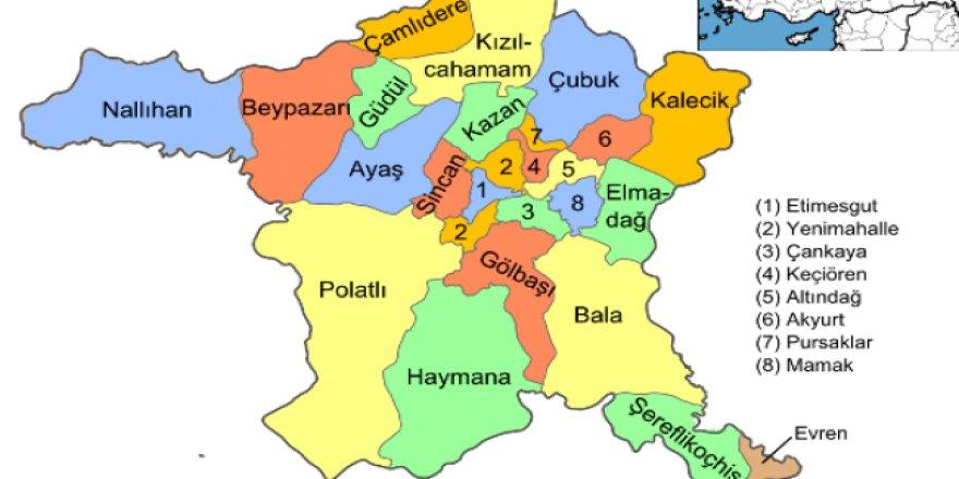 Ankara'nın Kaç İlçesi Var? İşte Ankara'nın İlçelerinin tam listesi