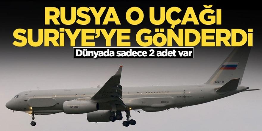 Rusya O uçağı Suriye'ye gönderdi! Dünyada Sadece 2 adet var