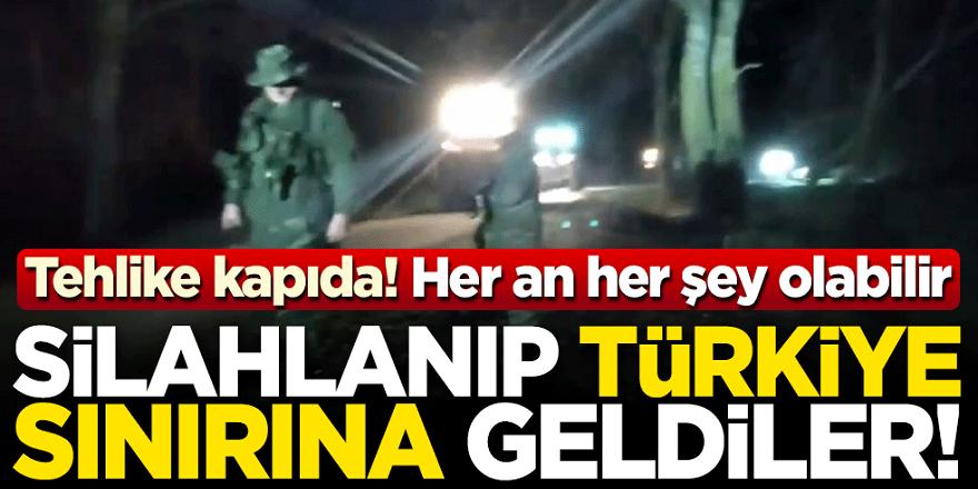 İş çığırından çıktı! Silahlanıp Türkiye sınırına geldi