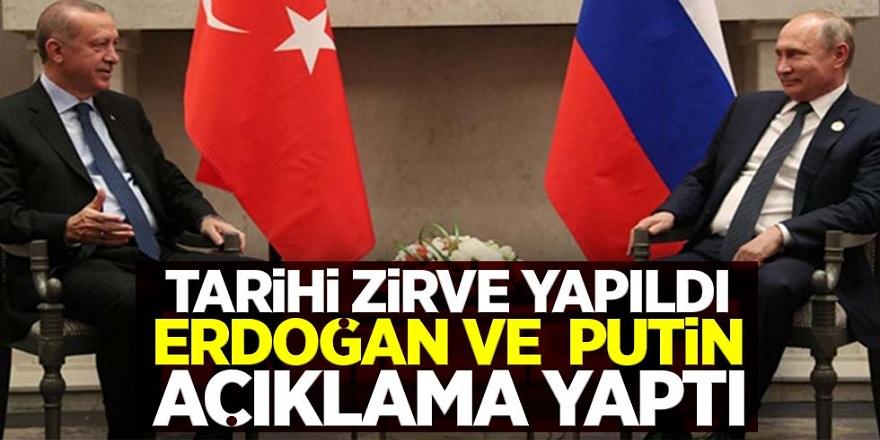 Tarihi zirve gerçekleşti! İşte Erdoğan ve Putin'in açıklamaları