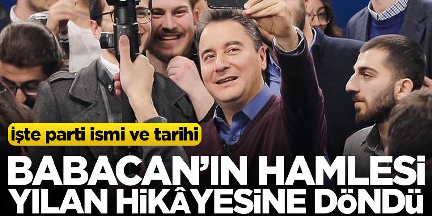 İşte Ali Babacan'ın partisinin ismi ve kurulma tarihi!