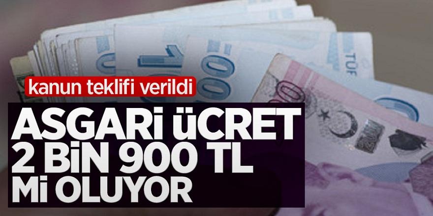 Kanun Teklifi Verildi! Asgari ücret 2 bin 900 tl mi oluyor