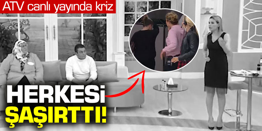 ATV 'de Esra Erol'da Canlı yayında ortalık karıştı
