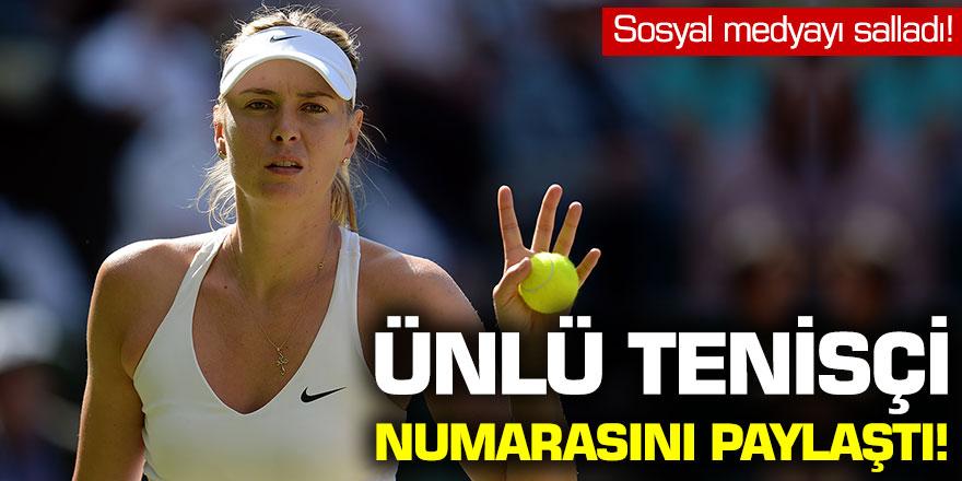 Ünlü Tenisçi telefon numarasını paylaştı
