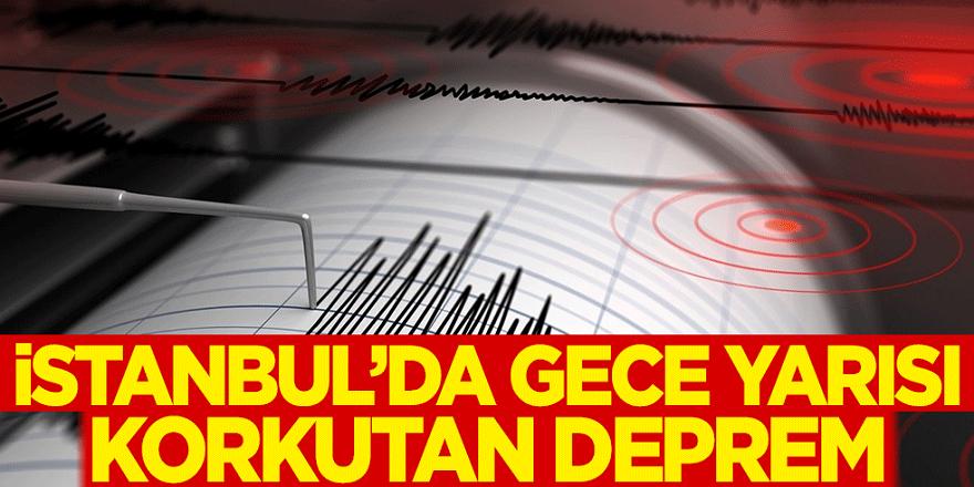 İstanbul'da korkutan deprem Daha