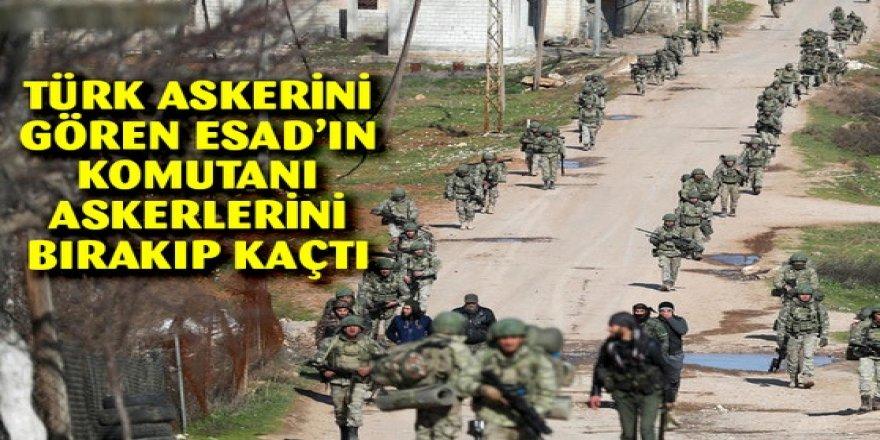 Türk askerini gören Esad'ın komutanı çıplak ayakla kaçtı