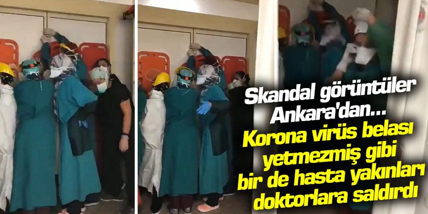 Ankara'da Skandal görüntüler hasta yakınları doktorlara saldırdı